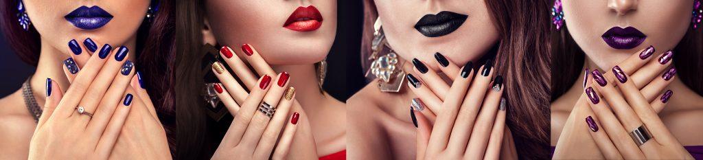 women wth coloured nails