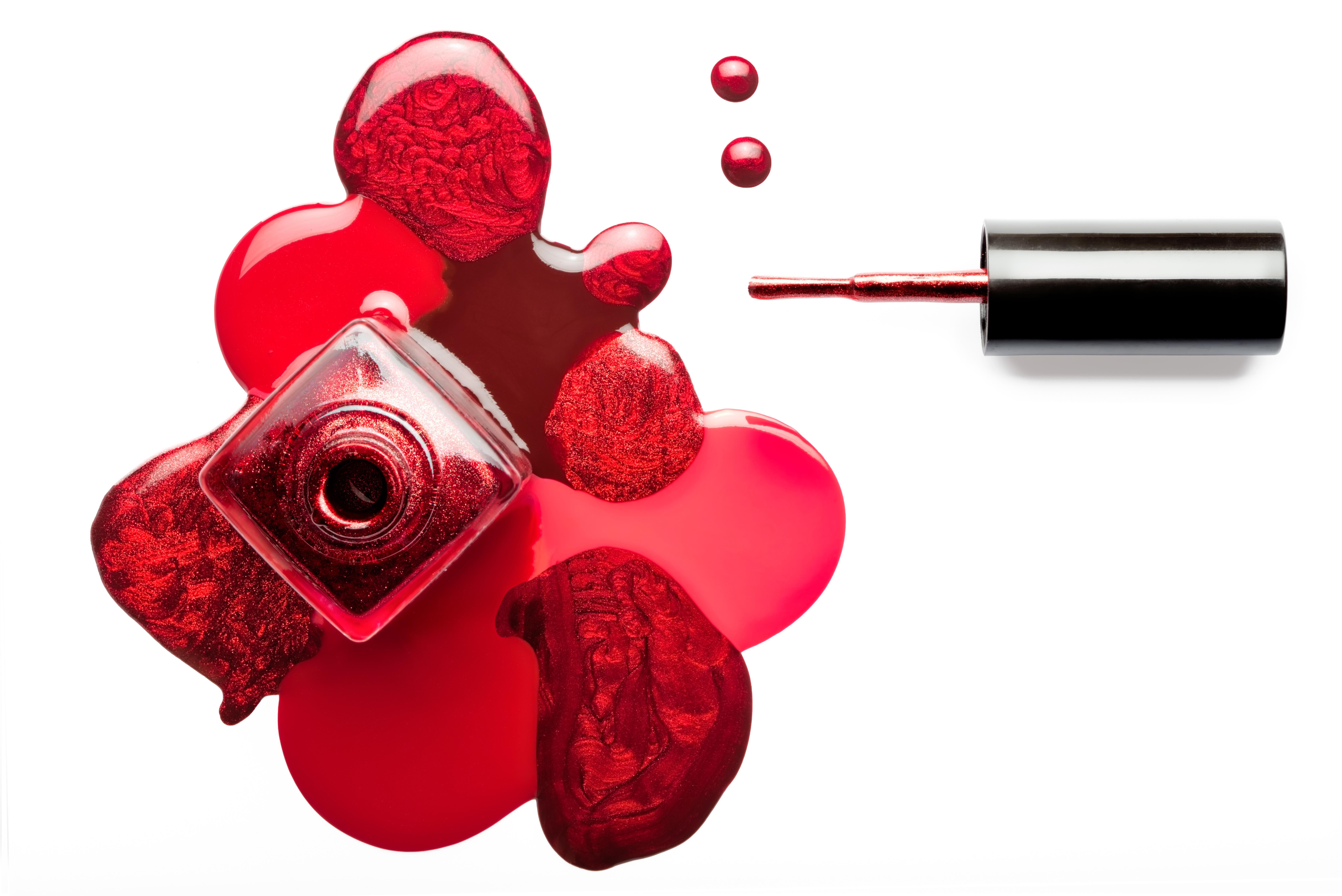 crimson nail polish